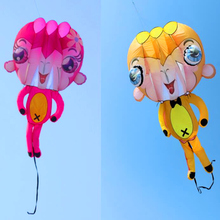 2017 new design free shipping high quality 5.4m large 3D monkey soft kite ripstop nylon kitesurf outdoor flying octopus kite bar