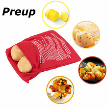 Microwave 4 minutes Fast Cooker Washable Polyester Fabric Fiber Potato Bag Corn Cooking Baking Holds bags Up To 4 Potatoes