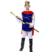 Children Cosplay Prince Costumes Kids King Suits Halloween Birthday Party Clothes Stage School Performance Clothing Props Gifts