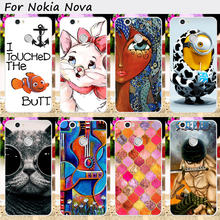 Hard Plastic Mobile Phone Covers For Huawei Nova Cases Cool Skull Cute Minions Flower Anti-Knock Cell Phone Bags Housings