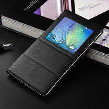 Smart Sleep Window Leather Flip Cover For Samsung Galaxy Note 4 Case Luuxury Fashion Cell Phone Cases  For Samsung Note 4 Coque