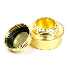 Portable Copper Alcohol Stove Mini Ultra-light Spirit Burner Stoves for Outdoor Camping Pinnic Roast Food Fornello Ad Alcol