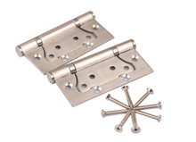 Quality Furniture Hinge Door Hinges 2 Pieces 4 inch 3mm Thick with Screws Heavy Duty Flush Brushed Stainless Steel 304(China)