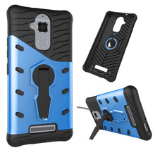 TopArmor For ASUS ZenFone 3 Max ZC520TL Phone Case Shockproof 360 swivel bracket shell Netted heat dissipation Armor Phone Cover(China)