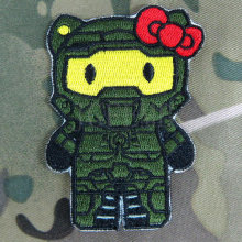 Hello Kitty Halo Kitty Military Tactics Morale Embroidery patch Badges B2794
