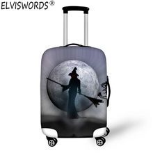 ELVISWORDS Durable Luggage Protective Cover Halloween Print Travel Luggage Covers Suitcase Protective Cover To 18-28 Inch Case(China)
