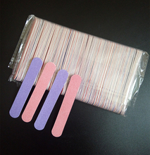 EasyNail 20pcs double color 85mm nail files Pink&Purple wood Nail File 180/240 Disposable Manicure Tools.