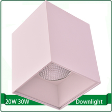 flush mounted High quality led downlight square 120x120 20W 30W cob down light(China)