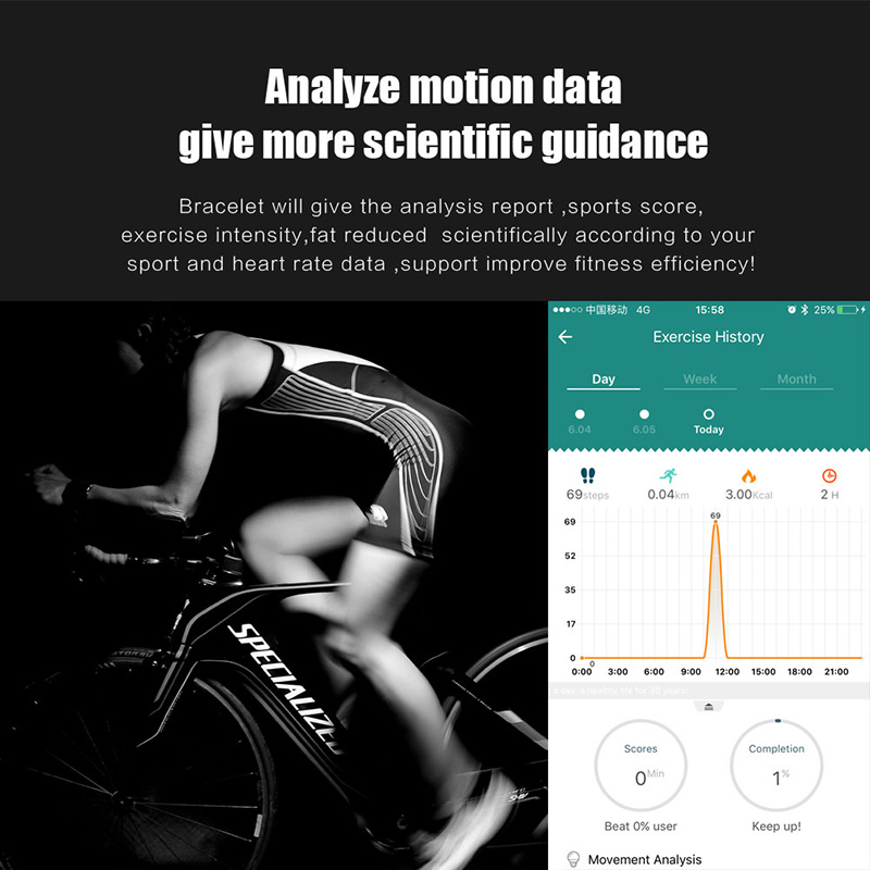 A86 Smartband Heart Rate Blood Pressure Watches Pulse Monitor Smart Band Fitness Bracelet Activity Tracker Wristband Pedometer 14