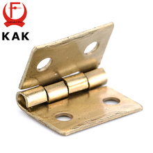 50PCS KAK Mini Bronze Gold Hinge Square Antique Door Hinges For Wooden Cabinet Drawer Jewellery Box Furniture Hardware