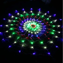 1.5m 144 SMD Peacock Opening Cobwebs Net LED Light Christmas Wedding Party New year Decorations Curtain Background Light(China)