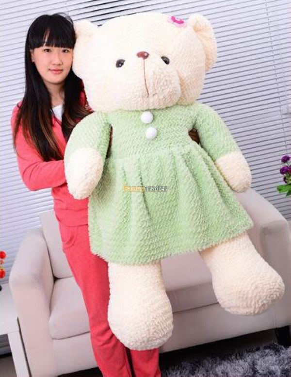 Fancytrader 47 / 120cm Lovely Soft Stuffed Giant Plush Teddy Bear Toy, 2 Colors Available! Free Shipping FT50103<br><br>Aliexpress