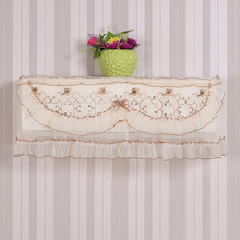 Pastoral Style Translucent Lace Cloth Embroidered Dust Proof Cover Hang Air Conditioner Cover Sweet Home Decor 88*20*36cm
