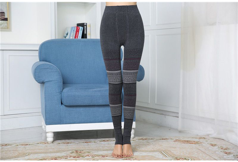 Winter Leggings, Women's High Waist Warm Leggings 4