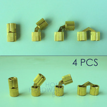 4 pcs hidden hinge invisible hinges concealed barrel brass color golden 12mm