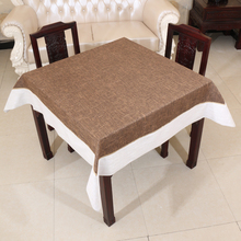 120*120cm Pastoral Style  Linen & Cotton waterproof oilproof and anti-heat  table cloth( various size can be customized)
