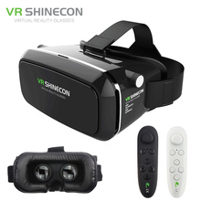 VR Shinecon Pro Virtual Reality 3D Glasses VR Google Cardboard Headset Head Mount for Smartphone 4-6' + Remote Control(China (Mainland))