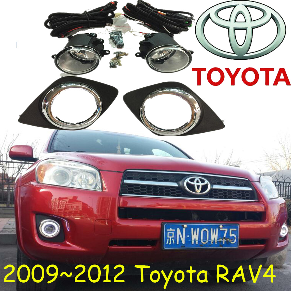 RAV4 fog light,2006~2008/2009~2012,2pcs/set+wire of harness,RAV4 halogen light,Free ship! RAV4 headlight; RAV 4<br>