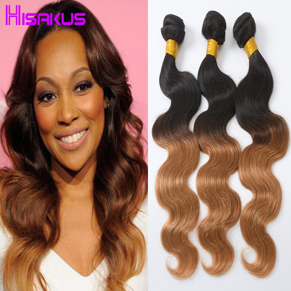 Brazilian Ombre Hair Bundles T1B/27 Ombre Human Hair Brazilian Virgin Hair Body Wave Ombre Brazilian Hair Weave Bundles On Sale<br><br>Aliexpress
