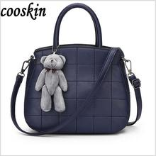 Cute Bear Apple Shape Women Shoulder Bag Christmas Gift School Messenger Bag Small Shoulder Bag for Children(China)