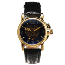 2017 Watches for Women WINNER Fashion Heart-shaped Skeleton Wrist Watches JAPAN Mechanical Movement Ladies Automatic Clock +BOX