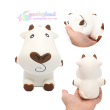 10Pcs/lot Milk Cow Squishy Cartoon Doll Slow Rising Jumbo Phone Straps Charms Scented Pendant Bread Cake Fun Kid Toy Gift(China)