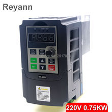 220V 0.75KW Single Phase input and 220V 3 Phase Output mini Frequency Converter /Adjustable Speed Drive /Frequency Inverter /VFD