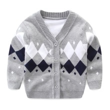 Newborn Baby Sweater For Boy Cotton Soft Baby Cardigan Long Sleeve V-Neck Boy Sweater Autumn Knitted Cardigan Baby Boys Clothing(China)