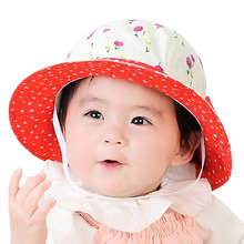Summer Cute Baby Bucket Hat Cotton Infant Toddler Girls Visor Sunscreen Beach Cap H9(China)