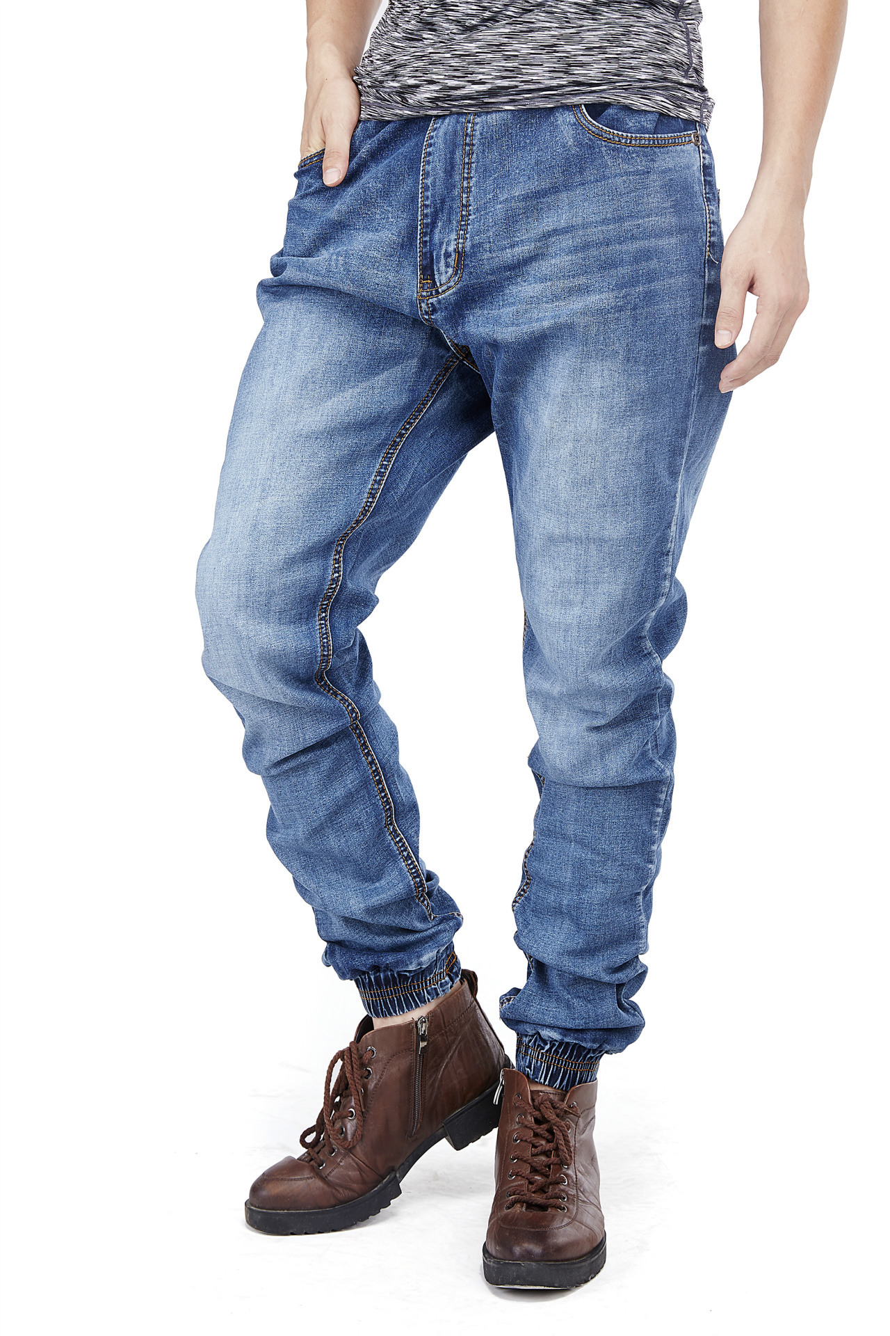 2017 Mens Jeans Slim Loose Straight Stretch Jeans Big Size Light Blue Long Trousers Size S-6XL Jeans For MenОдежда и ак�е��уары<br><br><br>Aliexpress