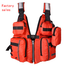 New Detachable Adult Life Jacket Vest Aid Sailing Surfing Fishing Kayak Boating Outdoor Sports With Many Pockets life jacket(China)