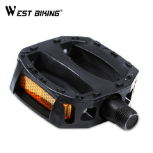 WEST BIKING Ultralight Bicycle Pedals For Kids Unbreak Plastic Road Anti-Slip Warning Reflector Children's Bikes Cycling Pedals