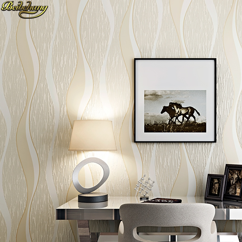 beibehang Modern Simple Wave Curve Striped 3D Carving Wallpaper Living Room Bedroom Restaurant Background papel de parede<br>