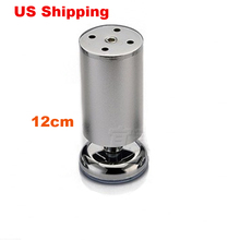 US Shipping 2pcs 12cm Aluminum wardrobe leg cabinet leg sofa leg with silicon base Furniture Caster(China)