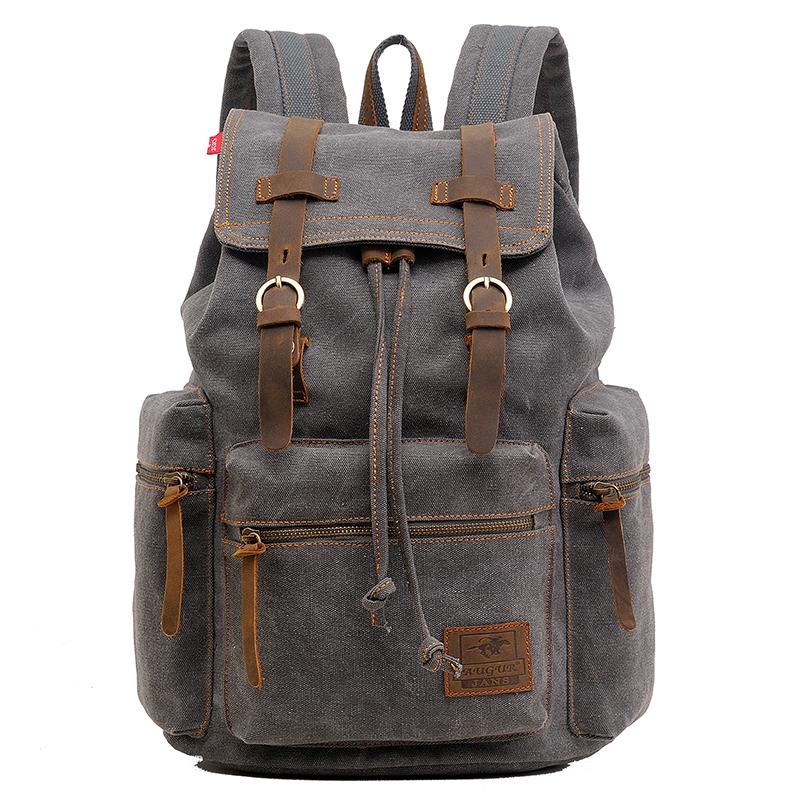 Backpack Vintage Canvas Backpack Large Laptop Backpack Male Travel Bags Luggage Bagpack Mochila Hombre