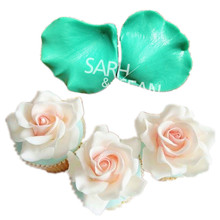JM004 rose flower petal shape texture mold clay mould fondant cake molds soap chocolate mould for the kitchen baking