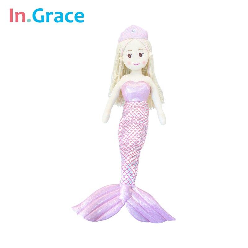 super beautiful big mermaid dolls for kids girls birthday gift big stuffed mermaid doll 7 colors limited collection doll 100CM<br><br>Aliexpress