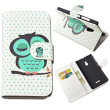 High Quality Painting PU Leather Hard Case for Nokia XL Dual SIM RM-1030 / RM-1042 Cover Phone Bag Stand Wallet Cases Back Cover
