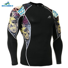 C2L-B44 Men PRO Football Jerseys Camisa Ciclismo Cube Tennis Tee Athletic Shirt Tight Golf Tops Compression Triathlon Undershirt(China)