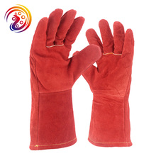 OLSON DEEPAK Cow Split Leather Welding Barbecue Cutting Carrying Factory Gardening Protective Work Gloves HY039 Free Shipping(China)