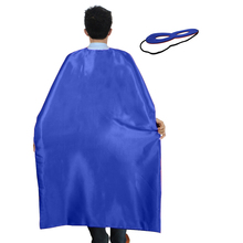 SPECIAL 140*90 cm Adult Blue cape superman dress costume+ 2 adult mask party birthday Christmas gift carnival costume for men(China)