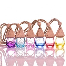 1Pcs 6ML Diamond Colored Glass Perfume Bottle Useful for Car Hanging Perfume Bottle Empty Refillable Perfume Bottles #251727(China)