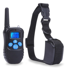 Waterproof Vibrate 330 Yard Collar Small Med Large Dog Remote Shock Training US Plug PT0355-PT0356