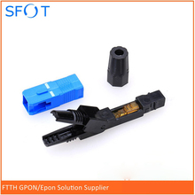 SC/UPC  Fiber Optic Fast Connector, Fast Connecter high quanlity Pre-embedded, Telecommunication Standard, Fiber Connector