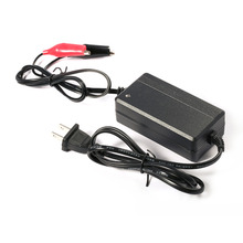 New Black Professional 12 V 3A Lead Acid Battery Charger Car Auto Vehicles Power Supply Charger Car Accessories Hot