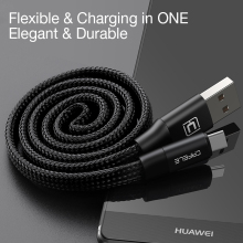 CAFELE USB Type C Cable For Xiaomi Mi5s Mi6 oneplus 3t Meizu M3 M5 Charging Type-C Cable Automatic Rolling Mobile Phone Cables(China)