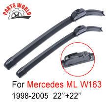 Pair Windscreen Front Wiper Blades Mercedes Benz ML-Class W163 1998-2005,Fit Windshield Natural Rubber Wiper,Car Accessories