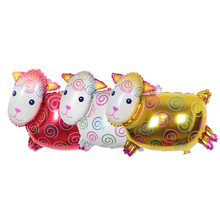 1pcs/lot Helium quality little sheep Foil balloons animal shaped inflatable balloon,cartoon birthday party decoration,kid's toy.(China)