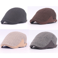 Men Knitted Wool Warm Winter Hats Beret Peaked Golf Cabbie Newsboy Cap HAT139   HATCS0139
