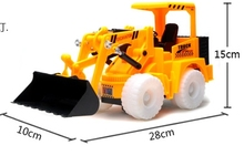 Electric toy truck Light universal car bulldozer forklift truck Fancy toy car